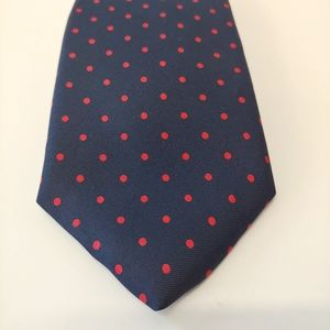 Vintage Harrods John Comfort All Slk Blue Red Ti
